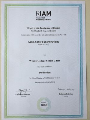 Gold Standard Distinction for Senior Choir